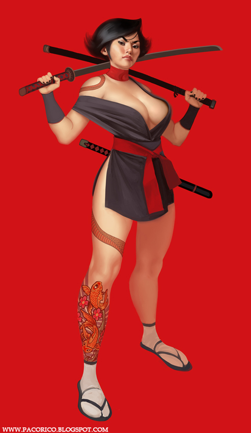 Sexy deadly ninja by Mancomb-Seepwood