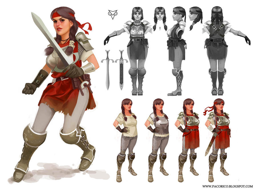 Character Concept Design Process : Unused concept and video by mancomb seepwood on deviantart