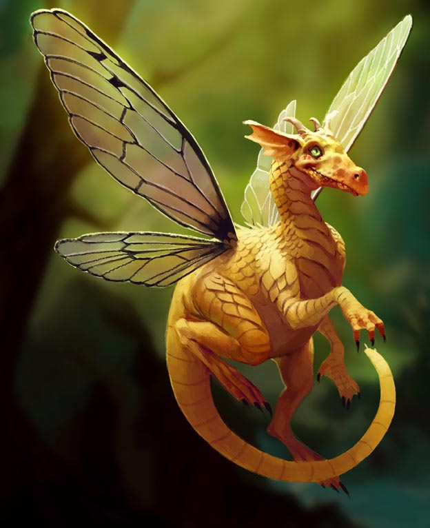 Faerie dragon by Mancomb-Seepwood