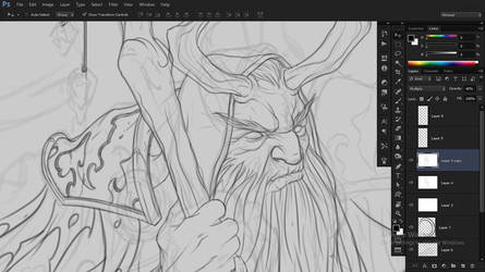 Horns and Blimpy (WIP) by daysoframpage