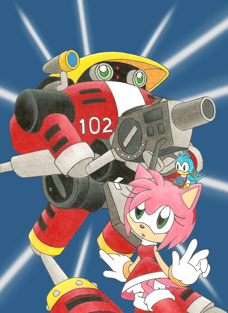 Amy and E-102 by SpitFireLex on DeviantArt