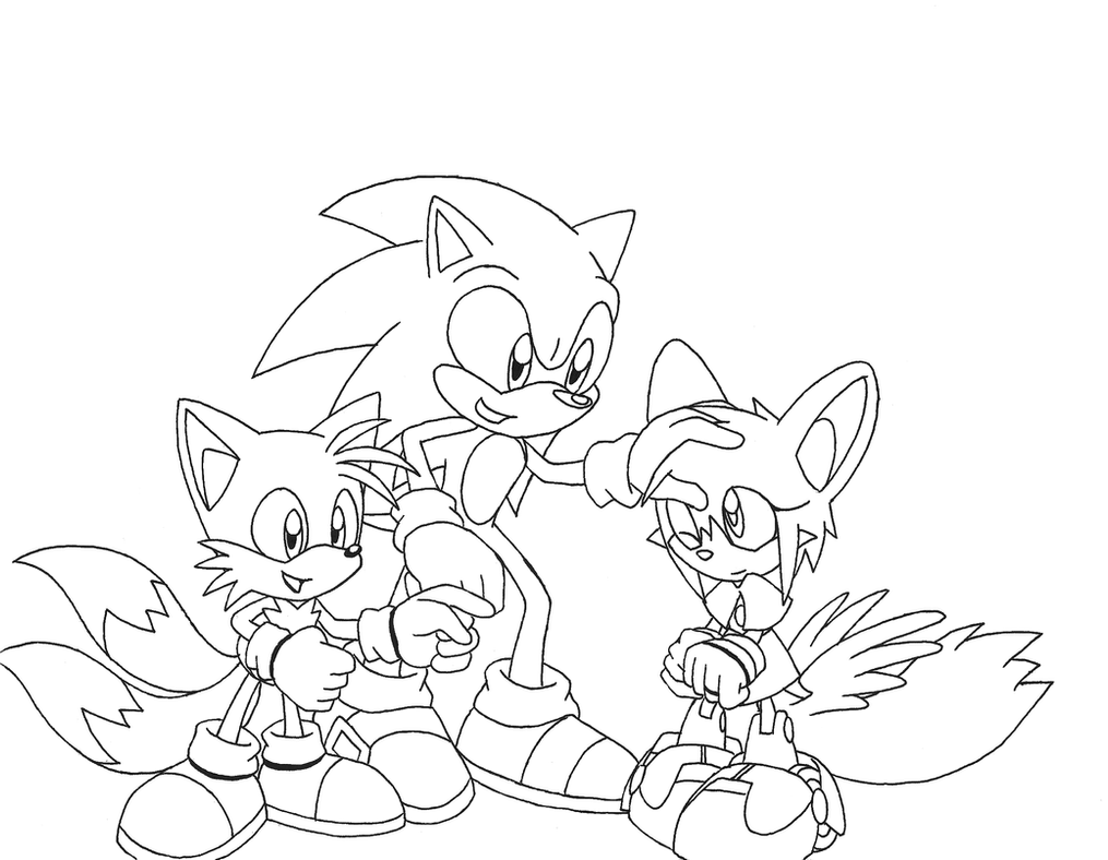 Sonic tails and rita lineart by spitfirelex on deviantart for Sonic tails coloring pages
