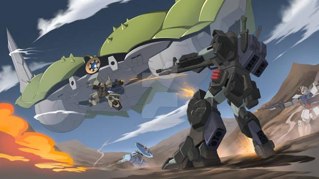 EZ-8 Hoplite battle scene