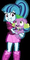 Sonata Dusk and Spike - Equestria Girls 2