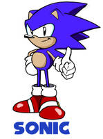 Classic Sonic the Hedgehog by A-Scream