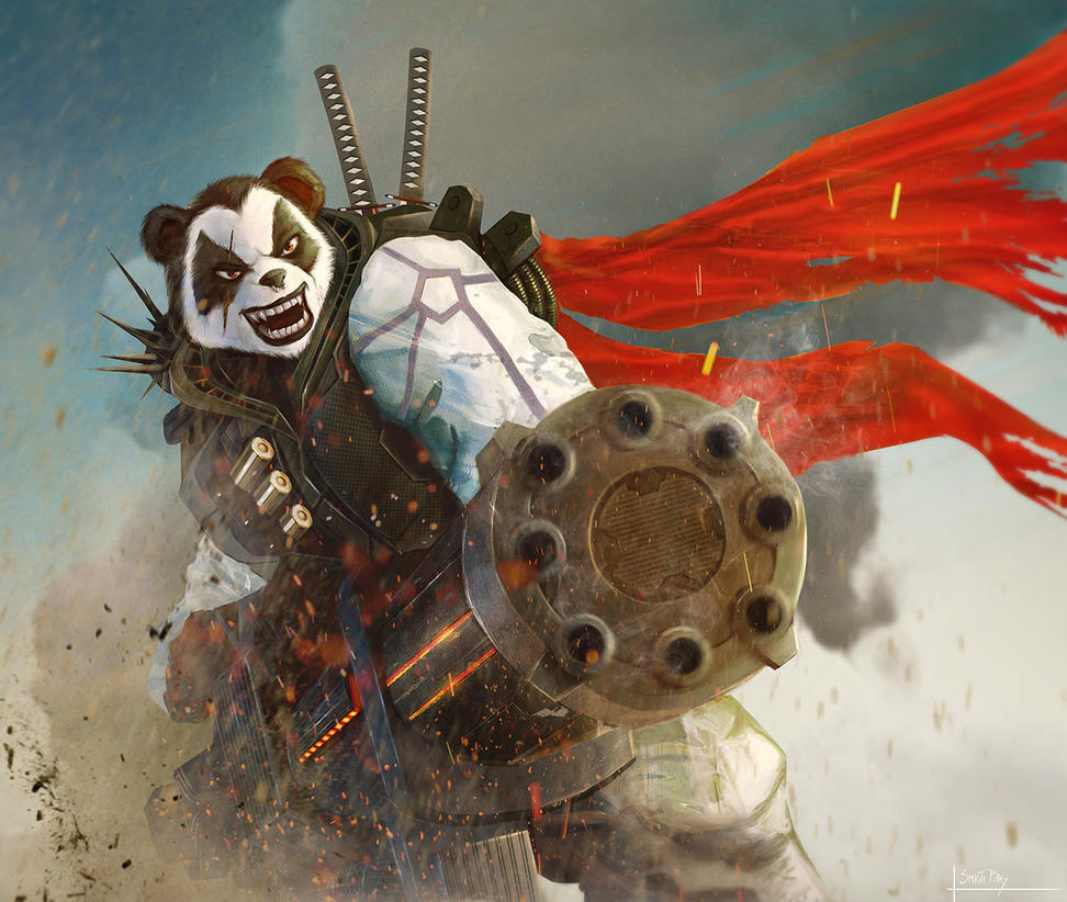 Angry Panda by SPyWorkz