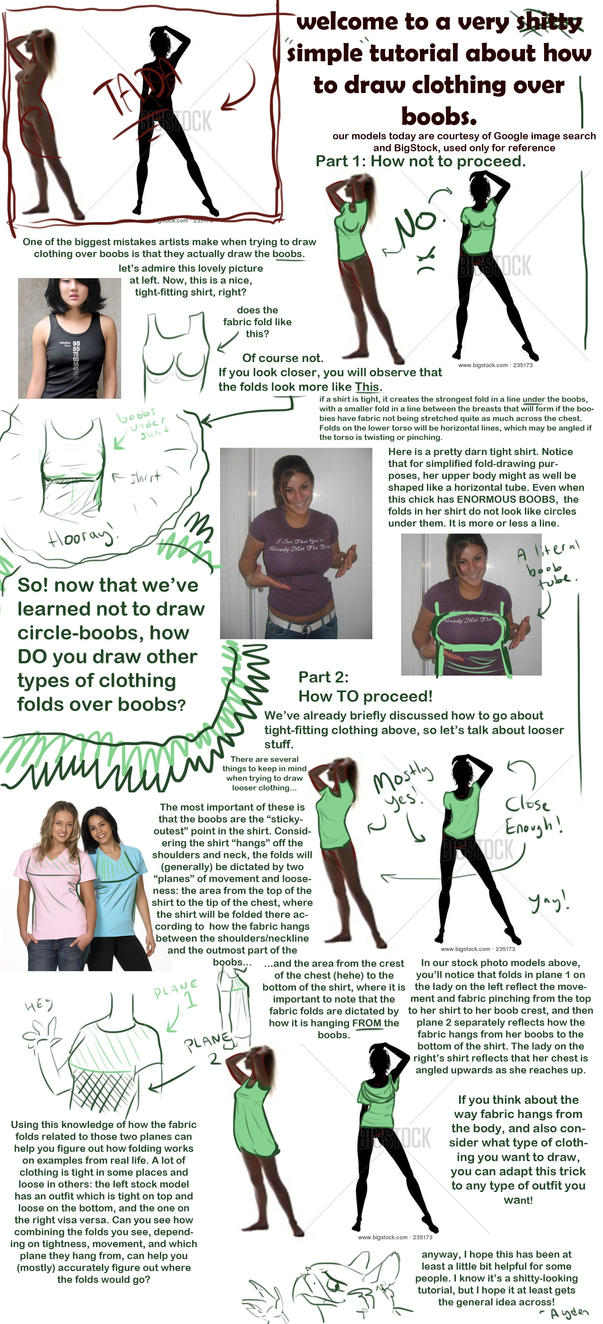 Clothing for women with large breasts
