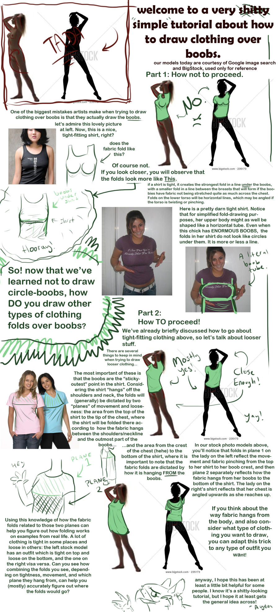 How to Draw Clothes Over Boobs by Aydengryphongirl