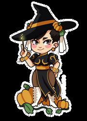 Chun Li the Pumpkin Witch by setsulko
