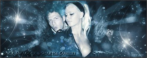 Maryse and Jack Swagger by oxyarts