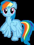 MLP Vector: Rainbow Dash #2