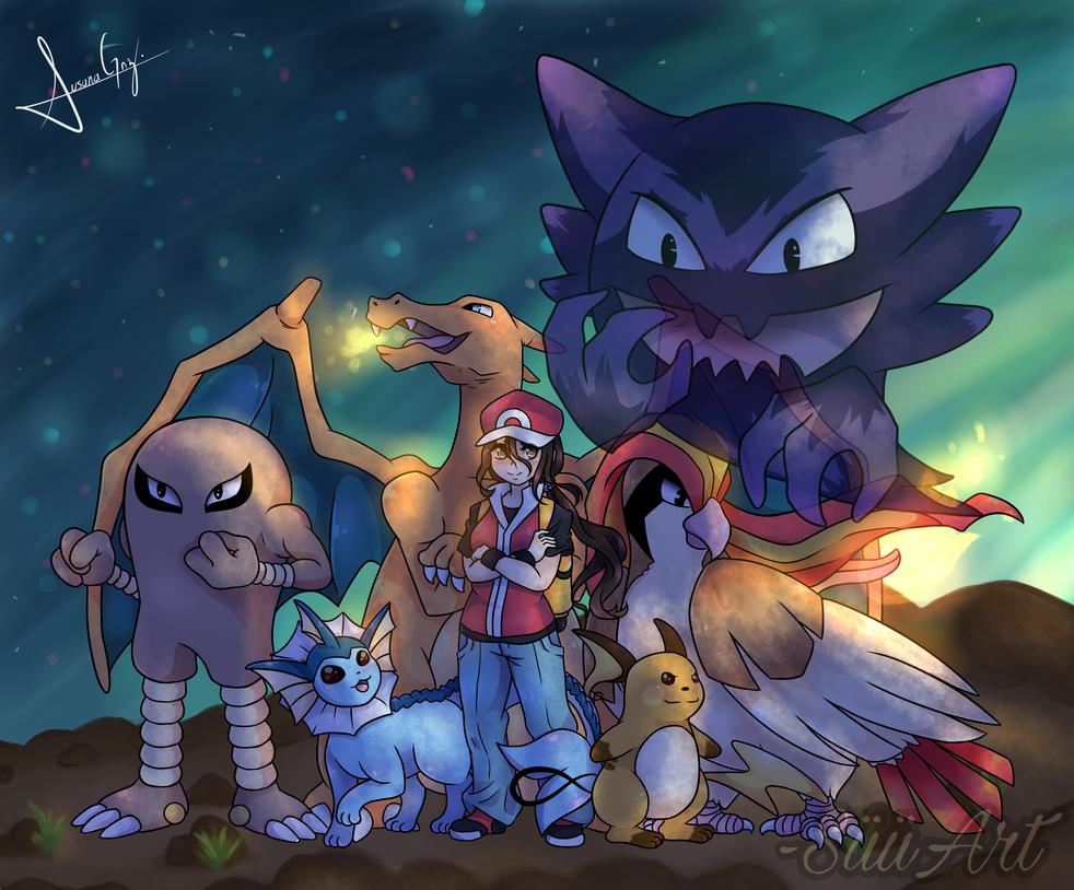 Pokemon FIRE RED Team by SuuCGArt