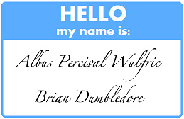 Hello My Name Is... Dumbledore by little-jade-fox