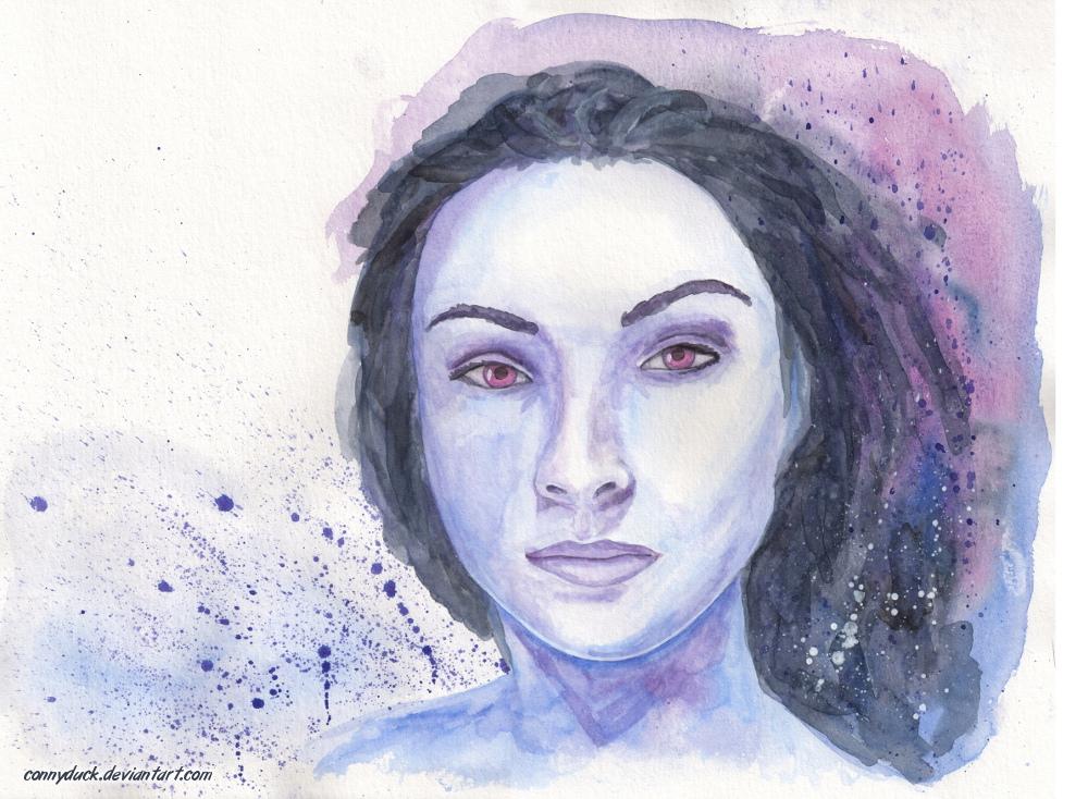 purple portrait by ConnyDuck