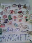 Magnets 4 sale by GreenUnicornArt