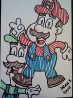 Mario Brothers2 by GreenUnicornArt