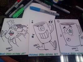 Coffee characters for Friedrich's employees by GreenUnicornArt
