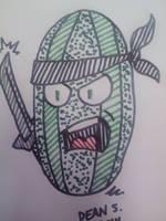 Watermelon Ninja by GreenUnicornArt