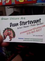 My new business cards by GreenUnicornArt