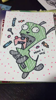 Gir with candy