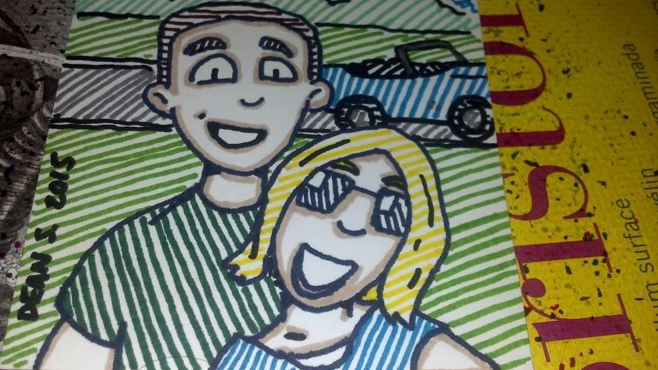 Happy Couple by GreenUnicornArt
