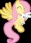 Fluttershy Kissing Angel