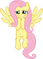 Fluttershy - Hovering Blushing Grin by juniberries