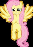 Fluttershy - Hovering Blushing Grin