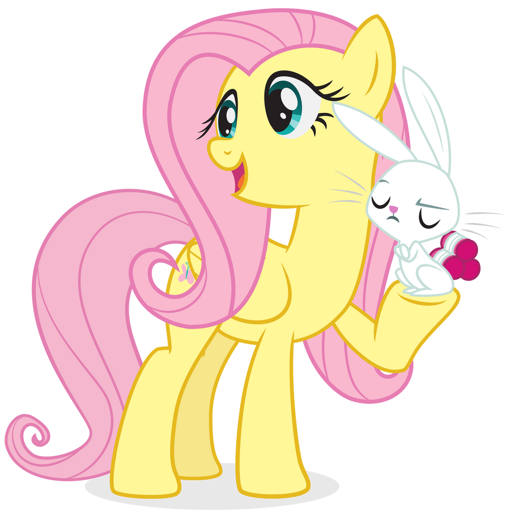 Fluttershy S Rabbit And Cat