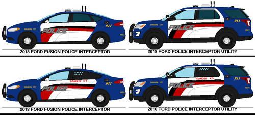 Bongrovia City PD - 2018 Ford Police Interceptors by Sgt-Turbo