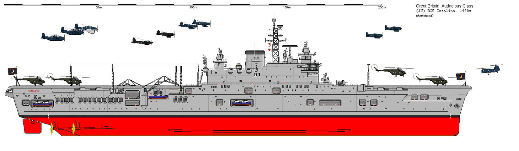 [AU-BG] Catalina-class aircraft carrier (1950s) by Sgt-Turbo