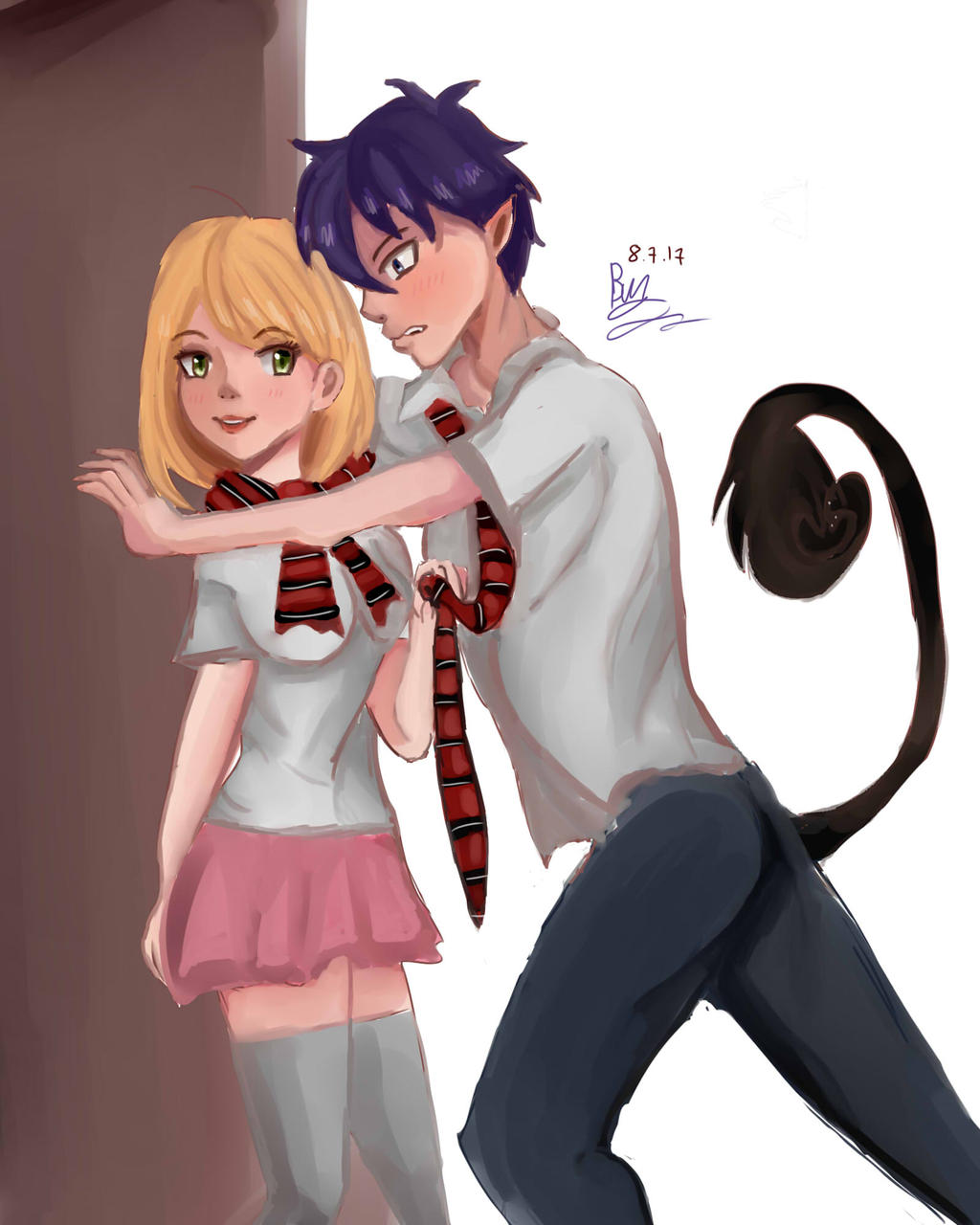 blue exorcist rin and shiemi relationship goals