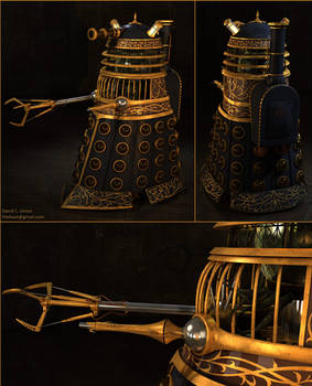 Steampunk Dalek (collage)