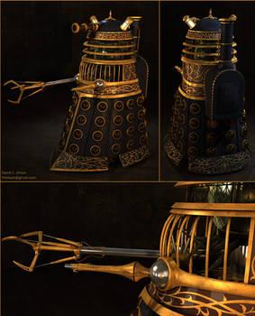 Steampunk Dalek (collage)