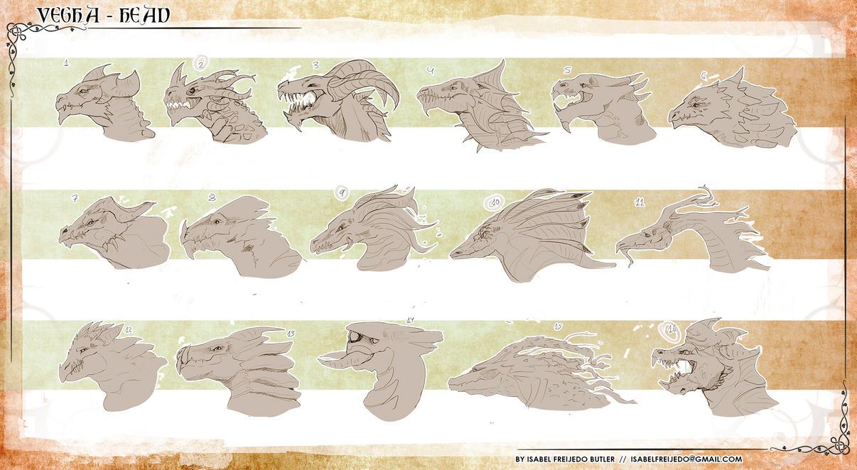 Wind Dragon  -  Vegha heads by innae-pyo