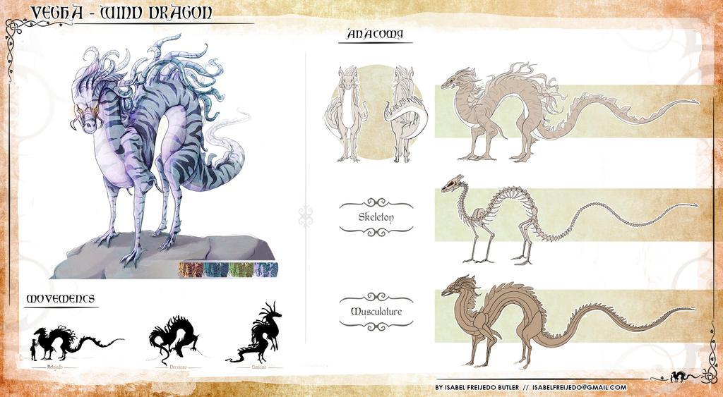 Bestiary  -  Wind Dragon Vegha by innae-pyo