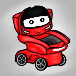 Ferrari Toilet Car w/Eyes by 1keviN888