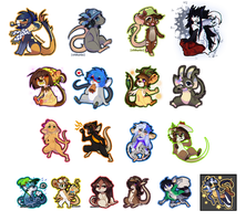 [Collection of Badges] Chibi Transformice by Chikunia