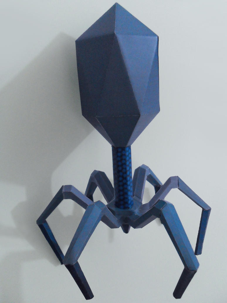 Bacteriophage papercraft by Shinaig