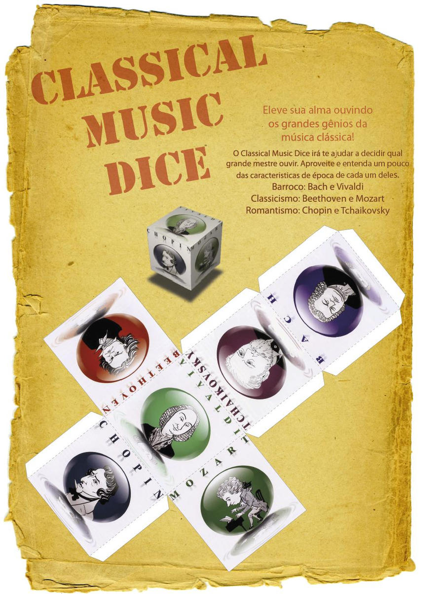 Classic Music Dice by Shinaig