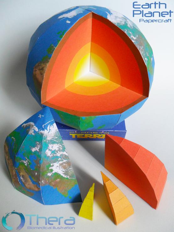 Earth papercraft by Shinaig