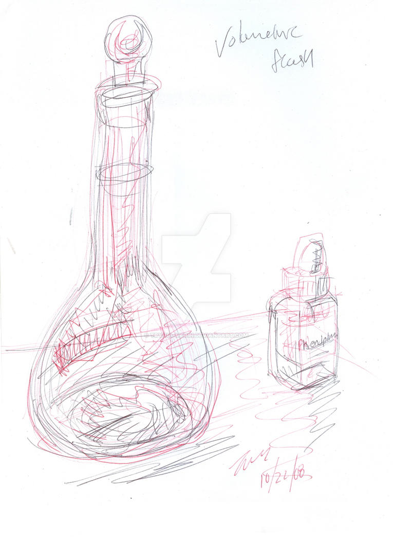 volumetric flask and bottle by trynia-merin on deviantart