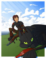 Httyd 2 - Hiccup and Toothless by Eyoha
