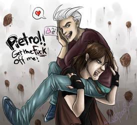Shounen-ai- Pietro and Lance. by guardianofire