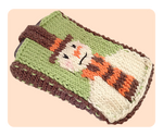 Christmas Snowman Knitted Mobile Phone Cover