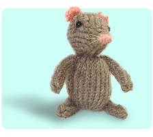 Marisol Knitted Mouse Standing Proud by AmareeLis