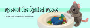 Marisol Knitted Mouse Love Candies
