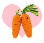 Knitting Sweet Carrot and Cool Carrot Lovey Dovey!