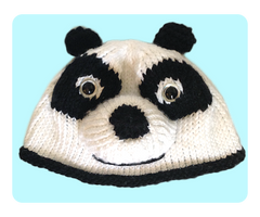 Knitted Panda Hat Beanie by AmareeLis