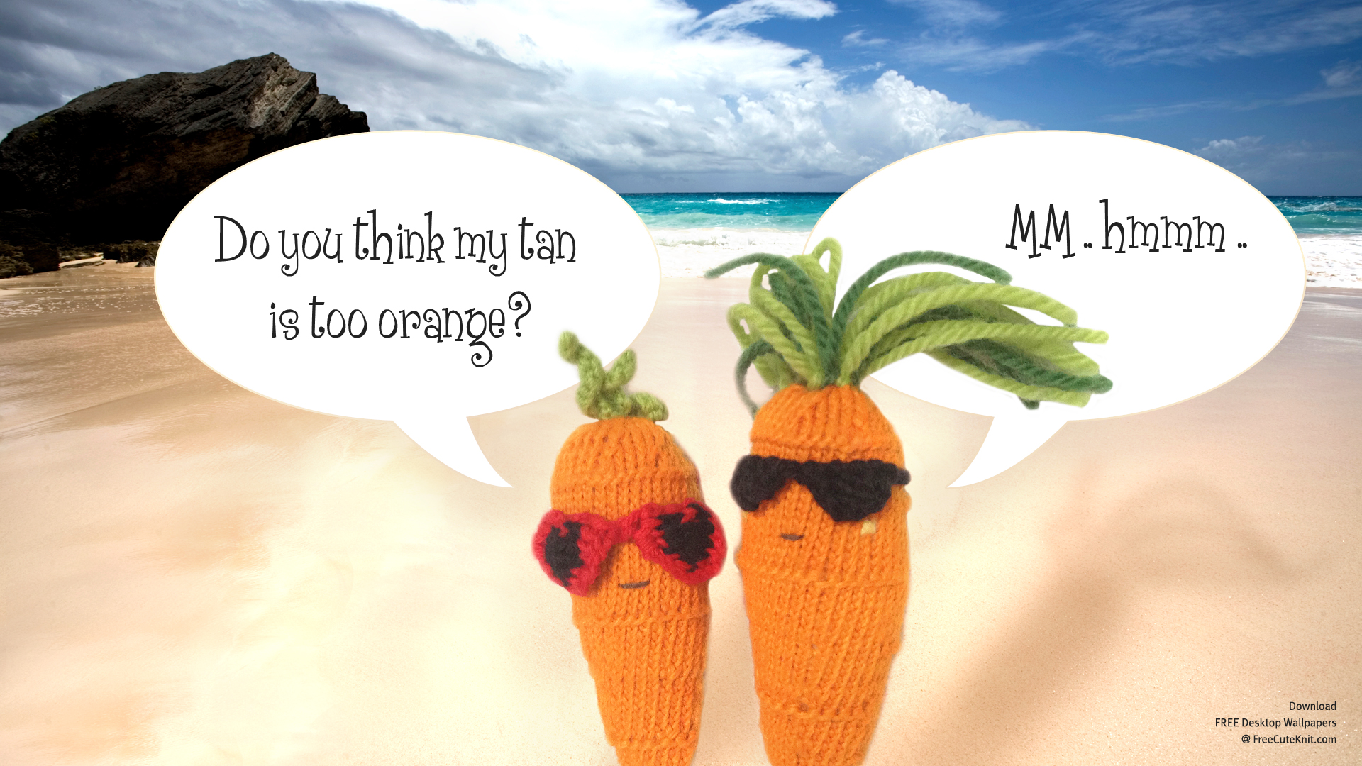 Sweet Carrot + Cool Carrot at the Beach Wallpaper by AmareeLis